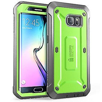 Supcase Unicorn Beetle Pro kroppen robuste hylster tilfelle med innebygde skjermen Proctor Samsung Galaxy S6 kanten-grønn/grå
