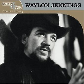 Waylon Jennings - Platinum & guld samling [CD] USA import