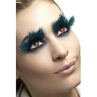 Adhesive contains lashes, large spring with Aqua dots,