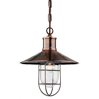 Firstlight Vintage, americano Tradtional pescatore rame antico soffitto Ciondolo Light Fitting