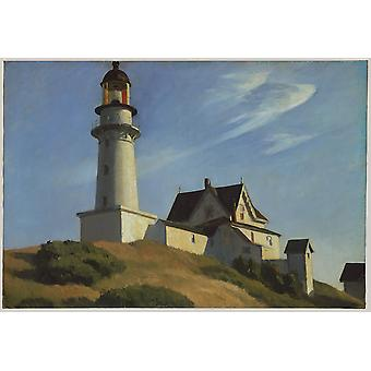 Edward Hopper - Lighthouse at Two Lights Poster Print Giclee