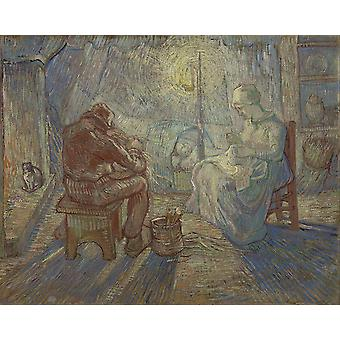 Vincent Van Gogh - Night (after Millet) Poster Print Giclee