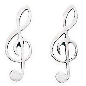 925 zilveren sleutel Earring Treble