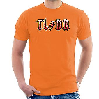 Too Long Didnt Read ACDC Logo Men's T-Shirt