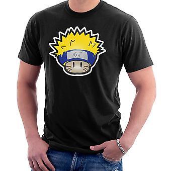 Camiseta Super Mushroom Mario Naruto hombres