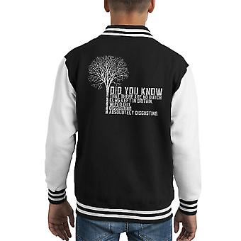 Alan Partridge Dutch Elm Did You Know Quote Kid's Varsity Jacket