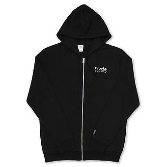 Crooks & Castles Mirror Zip Up Hoodie Black