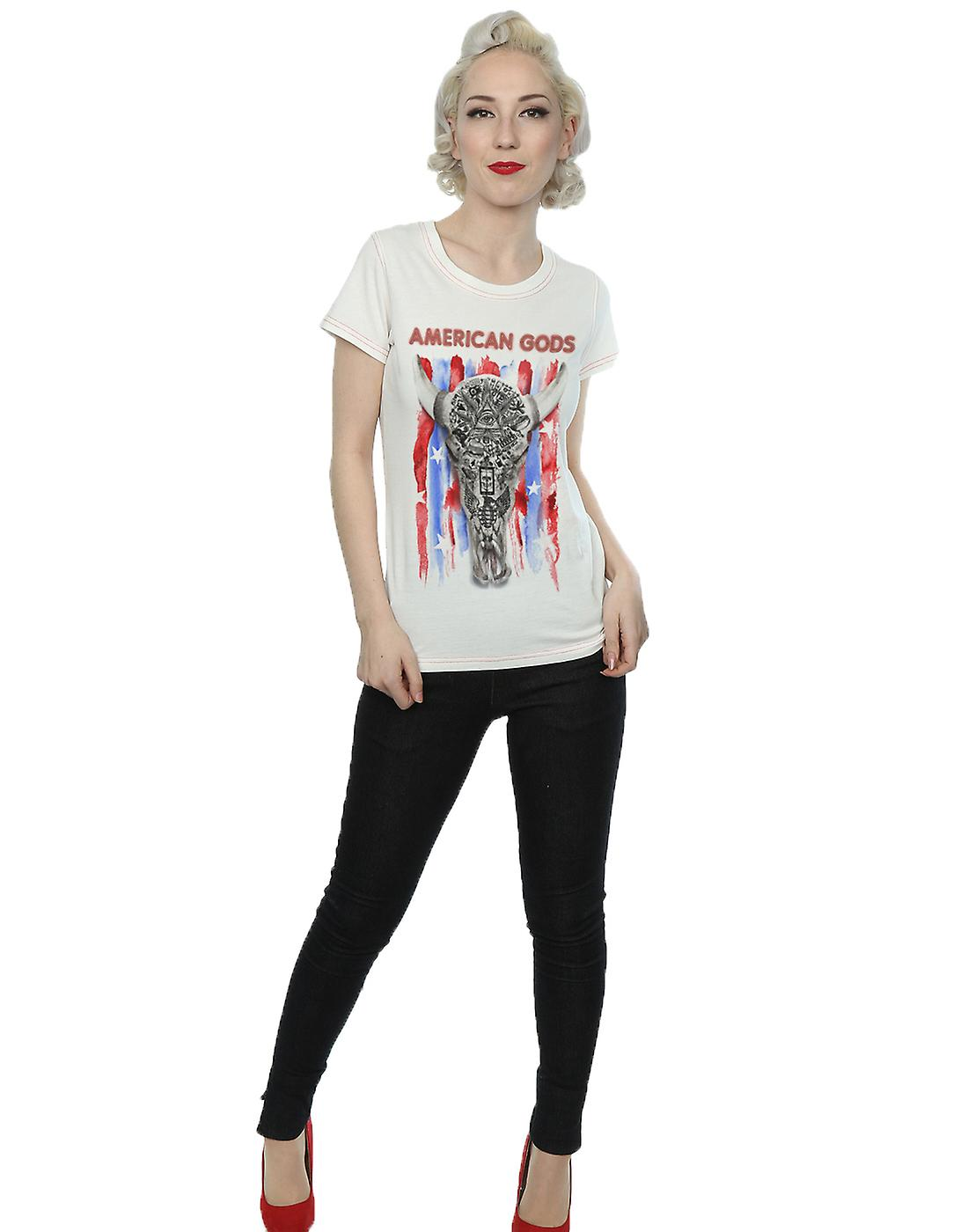 Aftershow Women's American Gods Skull Flag T-Shirt