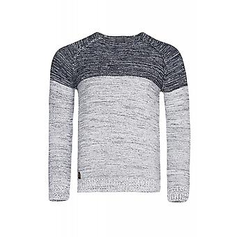 CARISMA rope jumper mens knitted sweater blue slim fit