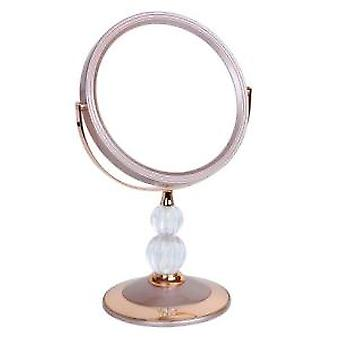 5x Magnification Rose Gold Pedestal Mirror