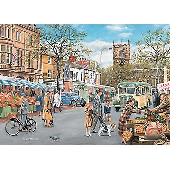 Falcon Deluxe Skipton Market Jigsaw Puzzle (500 Pieces)