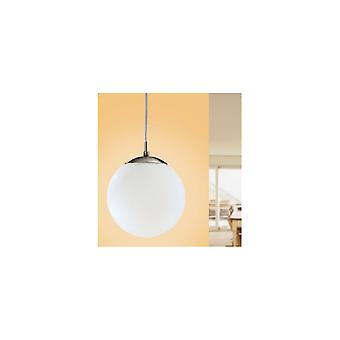 Eglo Rondo Single Modern Matt White Globe Ceiling Pendant Light (200mm)