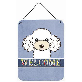White Poodle Welcome Wall or Door Hanging Prints