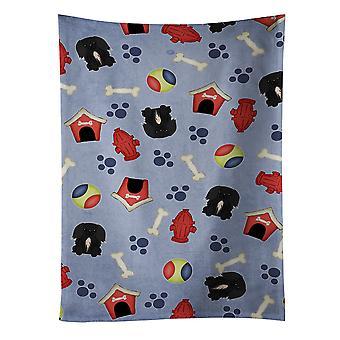 Dog House Collection Pekingnese Black Kitchen Towel