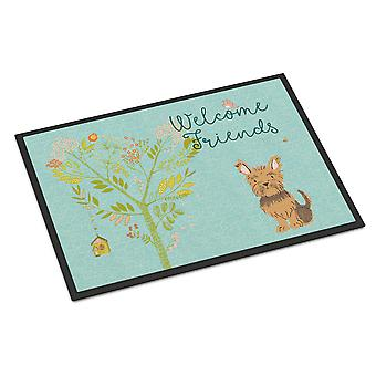 Welcome Friends Yorkie Indoor or Outdoor Mat 24x36