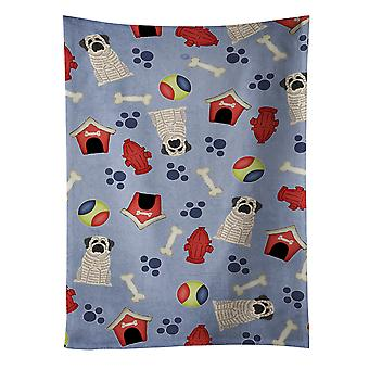 Dog House Collection Mastiff Brindle White Kitchen Towel