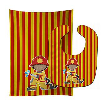 Carolines Treasures  BB6996STBU Fireman Boy Baby Bib & Burp Cloth