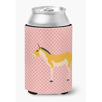 Turkmenian Kulan burro rosa Check puede o botella Hugger