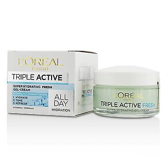 L'oreal Triple Active Super Hydrating Fresh Gel-Cream - For Normal To Combination Skin - 50ml/1.7oz