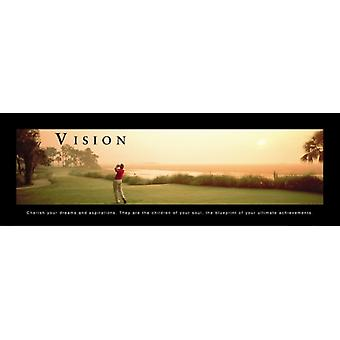 Vision - Golf Poster Print (36 x 12)