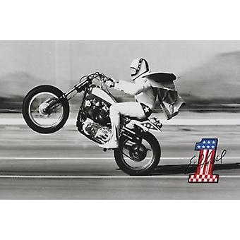 Evel Knievel plakatutskrift plakat