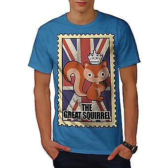 Stort ekorn menn Royal BlueT-skjorte | Wellcoda