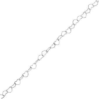 Hjertet Link kjede - 925 Sterling sølv singelen kjedene - W35725X
