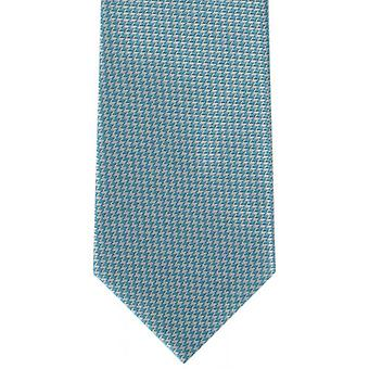 Michelsons of London Bright Puppytooth Polyester Tie - Teal Blue