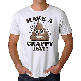 Humor skit dag mäns vit T-shirt