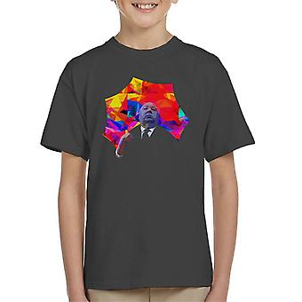 Alfred Hitchcock Kaleidoscope Umbrella 1975 Kid's T-Shirt