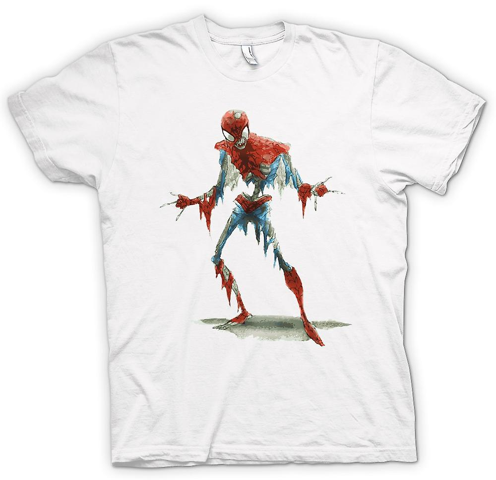 Mens t-skjorte - Spiderman Zombie - Funny