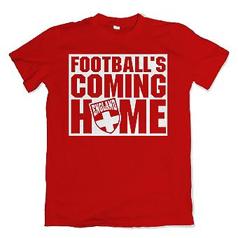 T-shirt Inghilterra palloni Coming Home (rosso)