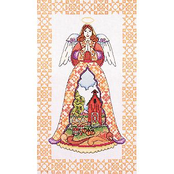 Autumn Angel By Jim Shore Counted Cross Stitch Kit-9