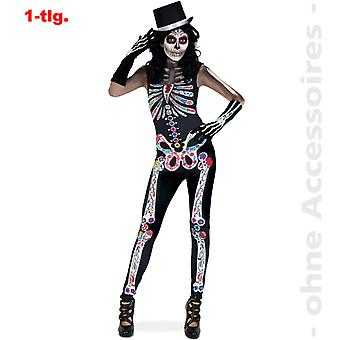 Day of the dead jumpsuit Halloween skeleton jumpsuit women's costume ladies costume