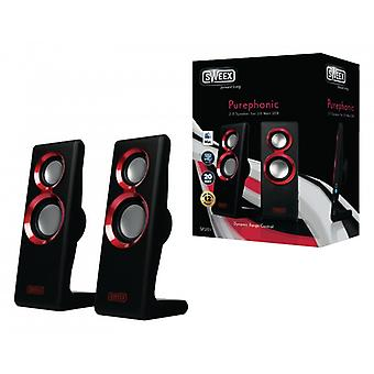 Sweex Speaker 2.0 Wired USB 20 W Red
