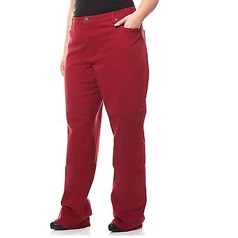 sheego casual stretch jeans plus size long size Red