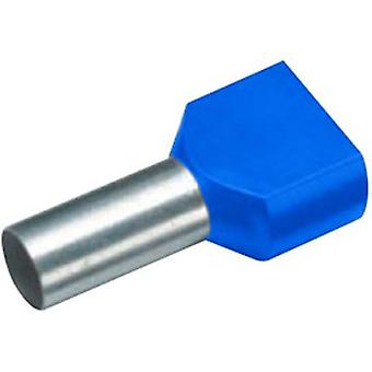 Twin ferrule 2 x 2.50 mm² x 10 mm Partially insulated Blue Cimco