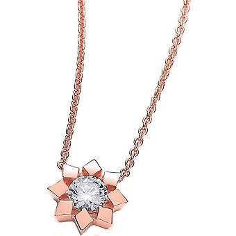 Cavendish French Flower Necklace - Rose Gold