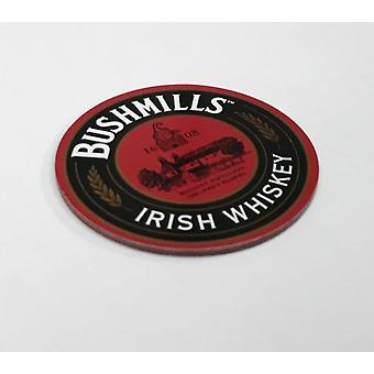 Bushmills Irish Whiskey Cork Backed Round Drinks Coaster 105Mm X 105Mm