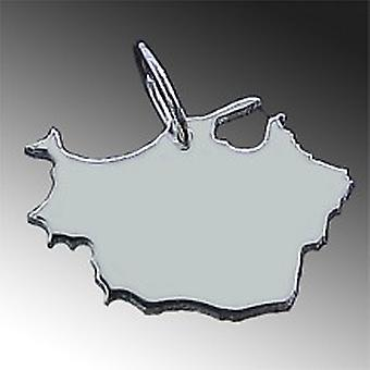 Trailer map of East PRUSSIA in solid 925 Silver Pendant