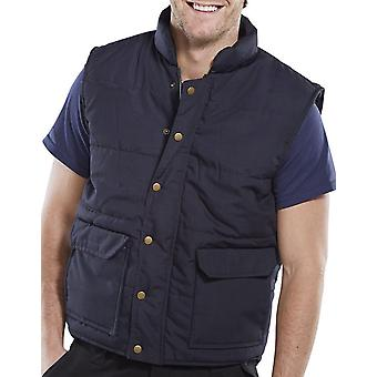 Click Workwear Quebec Fleece Lined Bodywarmer Navy - Q