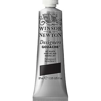 Winsor & Newton Designers Gouache 37ml (Jet Black)