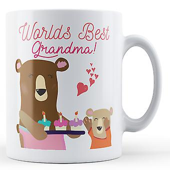 Worlds Best Grandma! Teddy Bear - Printed Mug