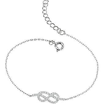 Elements Silver Cosmic Cubic Zirconia Infinity Bracelet - Silver