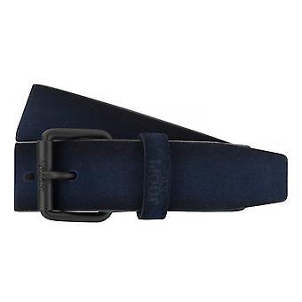 ¡JOOP! Correas cinturones hombres cuero cinturón azul 7529