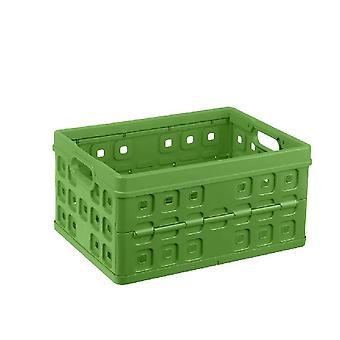 SunWare Quadrat falten Kiste 32 Liter Natur-grün