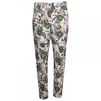 Betty Barclay Tropical Print Straight Leg Jeans
