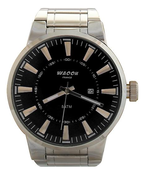 Waooh - Montre Waooh 8001P - Bracelet Argent