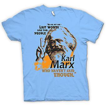 儿童 t 恤-卡尔 · 马克思的遗言-共产主义-马克思主义