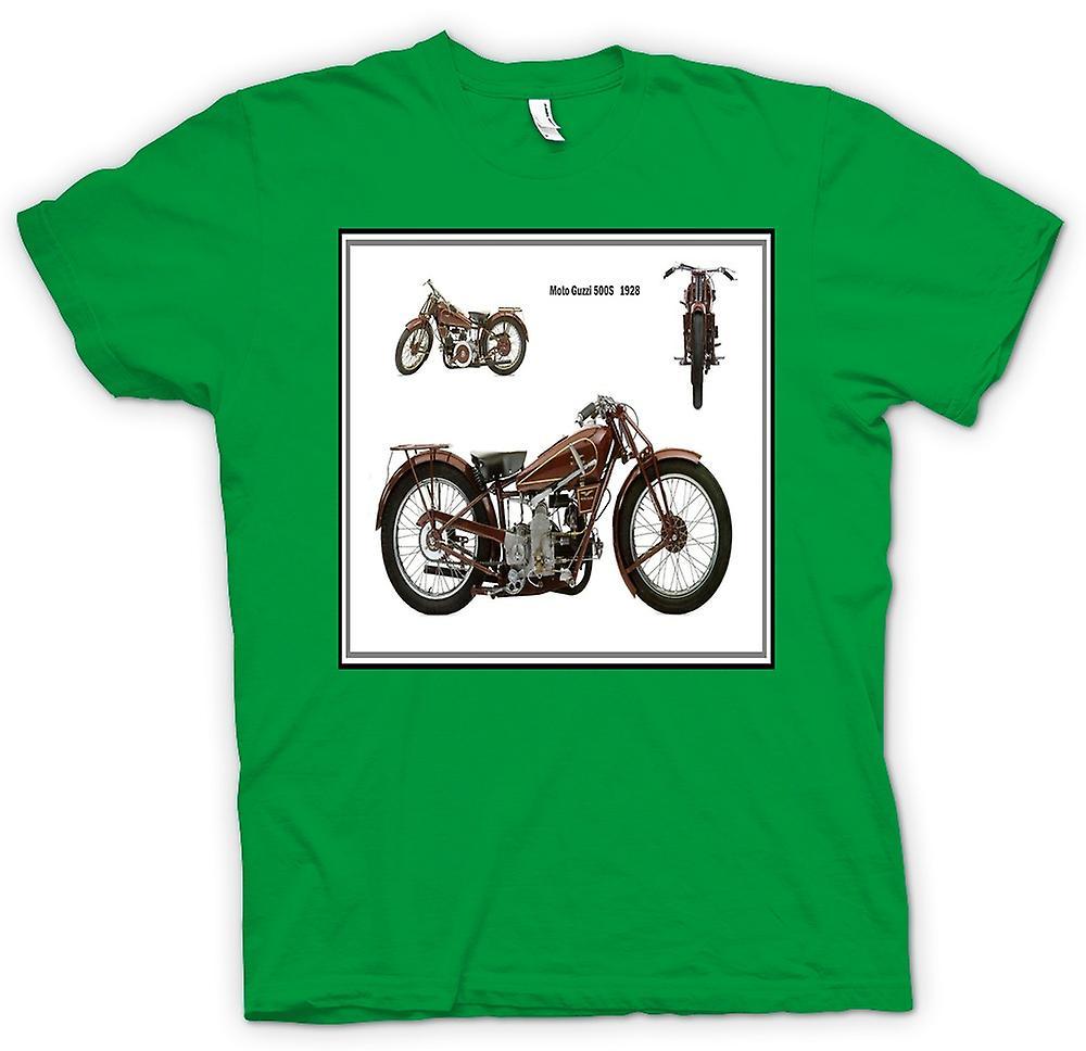 Mens t-skjorte-Moto Guzzi 500S 1928 klassisk sykkel